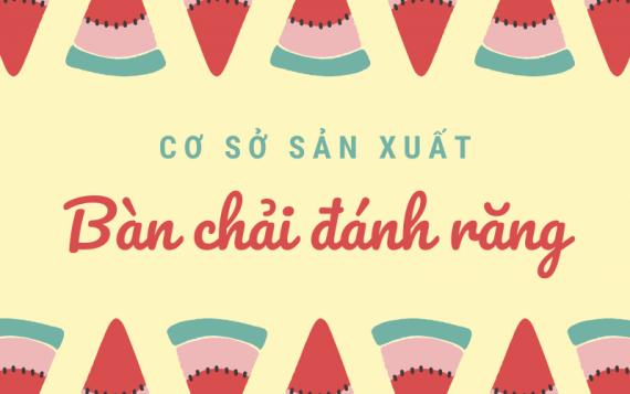 Tổng hợp các cơ sở sản xuất bàn chải đánh răng tại Việt Nam