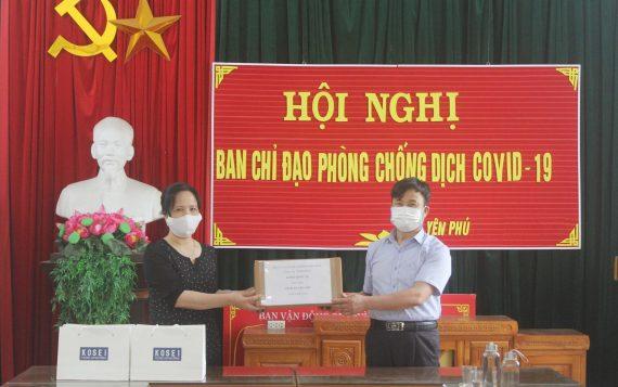 Công ty Kosei Quốc Tế trao tặng khẩu trang cho 2 xã Yên Phú và Bình Minh, huyện Yên Mỹ, Hưng Yên