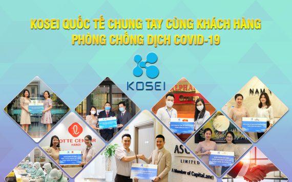 Kosei trao tặng 255.000 gel rửa tay khô cho khách hàng