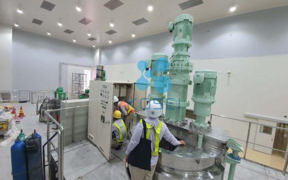 Tiến độ xây dựng nhà máy mỹ phẩm cGMP – Cập nhật ngày 03.08.2020