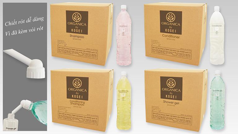 dầu gội sữa tắm khách sạn organica by kosei